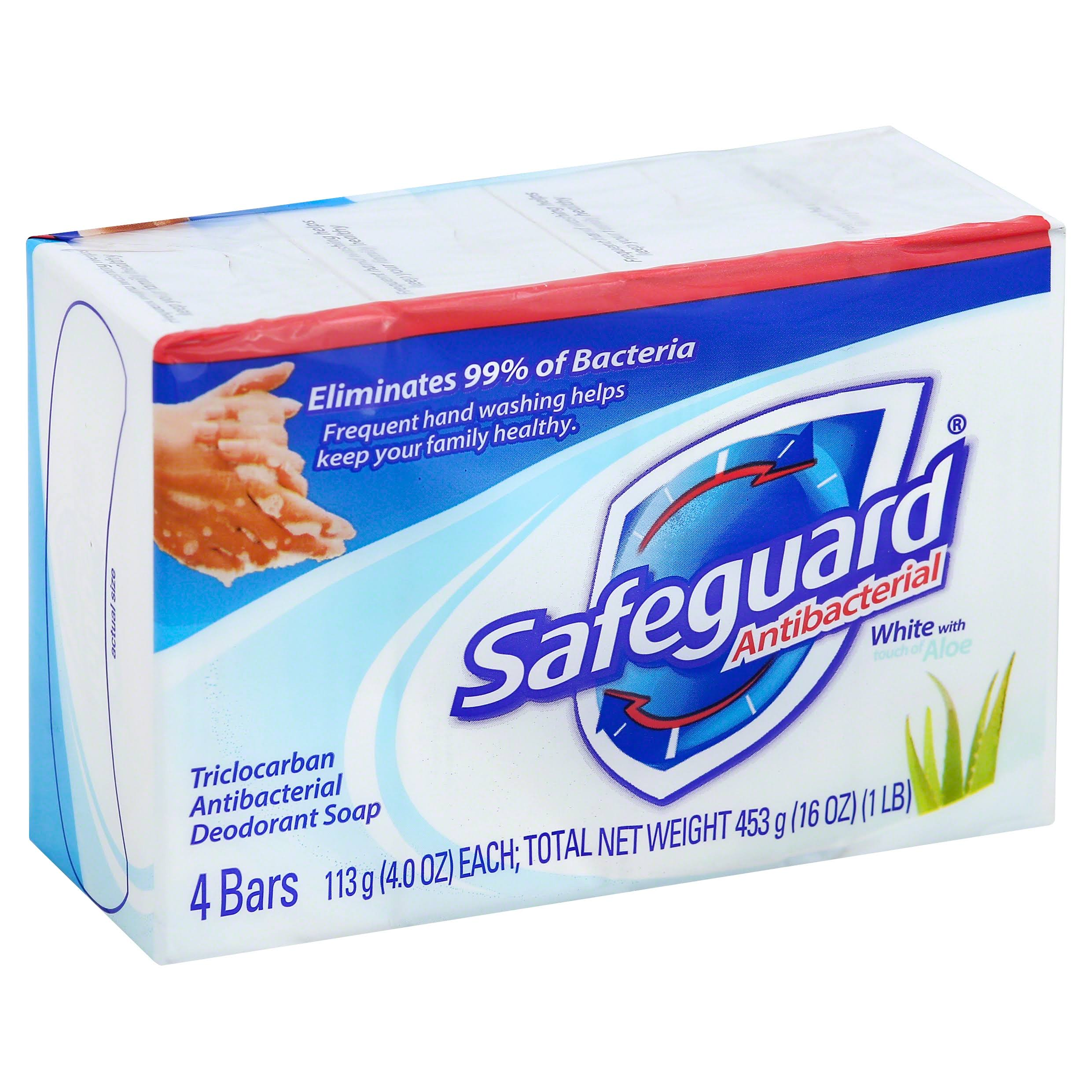 Safeguard Antibacterial Deodorant Soap - 4 Bars