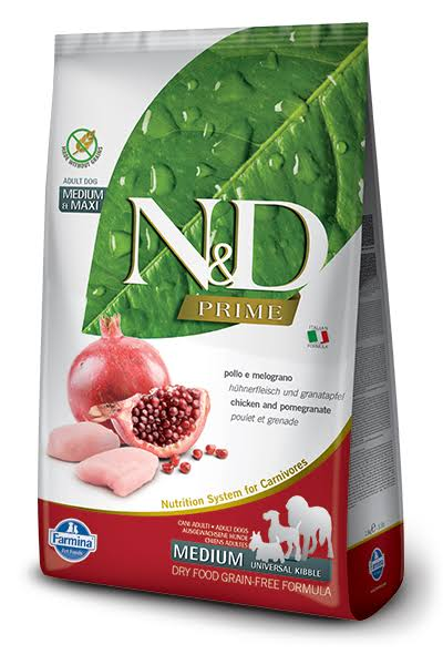 Farmina N&D Prime Chicken & Pomegranate Medium & Maxi Adult Grain-Free Dry Dog Food, 26.4-lb Bag