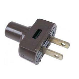Leviton Rubber Flat Plug - Brown, 15 Amp