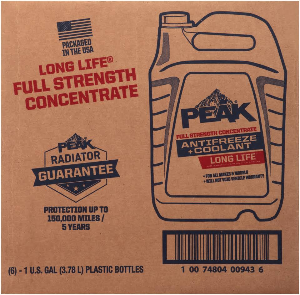 Peak Long Life Full Strength Antifreeze - 1gal