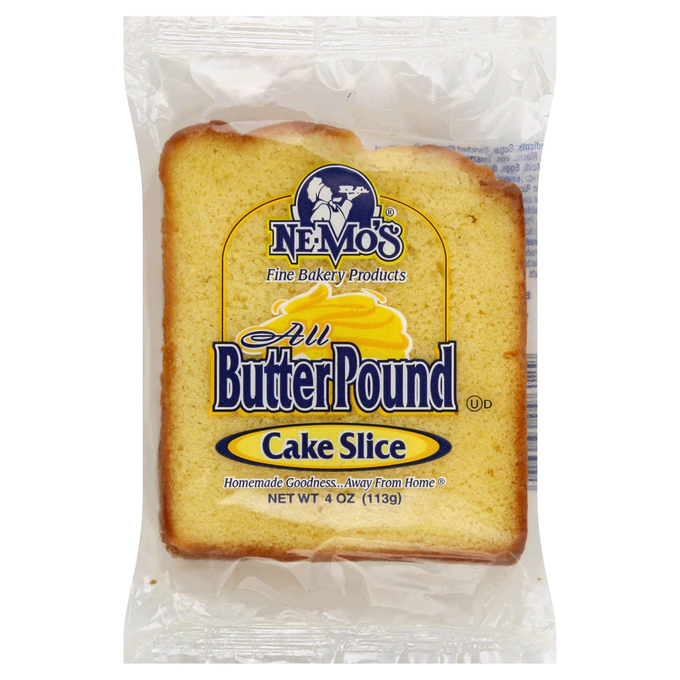 Ne Mos Cake Slice, All Butter Pound - 4 oz