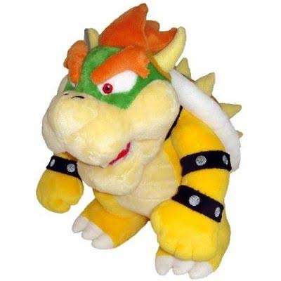 Nintendo Official Super Mario Bowser Plush Toy - 10""