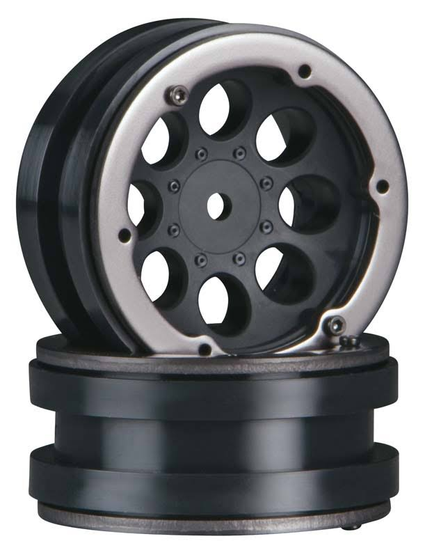 Axial Ax8087 1.9 8 Hole Beadlocks Black (2) Multi-colored