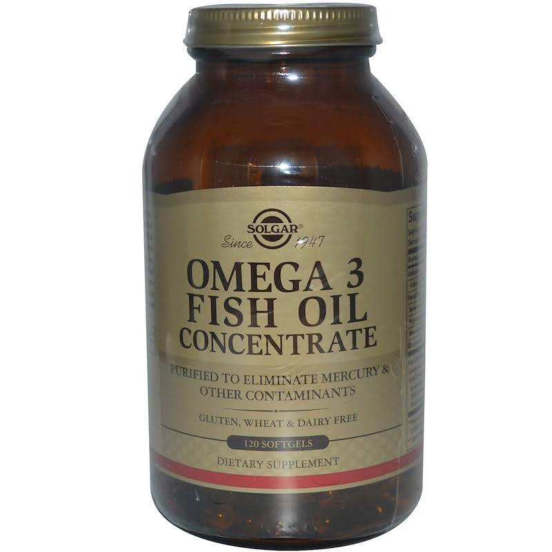 Solgar Omega-3 Fish Oil Concentrate Supplement