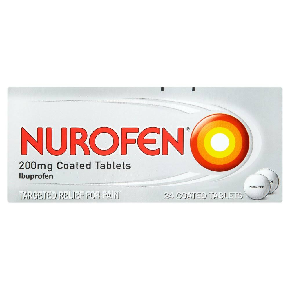 Nurofen 200mg Coated Tablets - 24 Coated Tablets