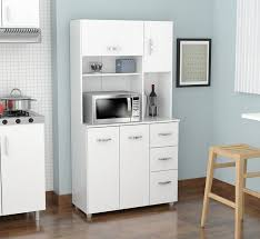 Free Standing Kitchen Cabinets Amazon by Amazon Com Inval America 4 Door Storage Cabinet With Microwave