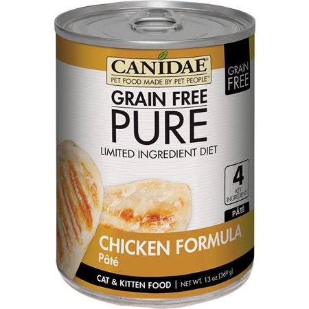 Canidae Grain Free Pure Lid Cat Food - Chicken Pate, 13oz, 12ct