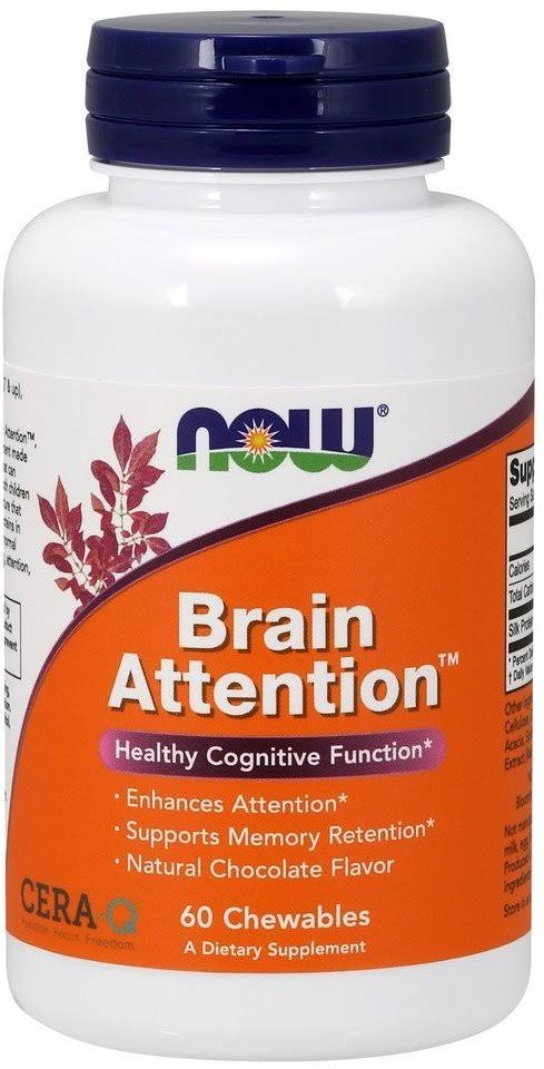 Now Foods Brain Attention - 60 Chewables