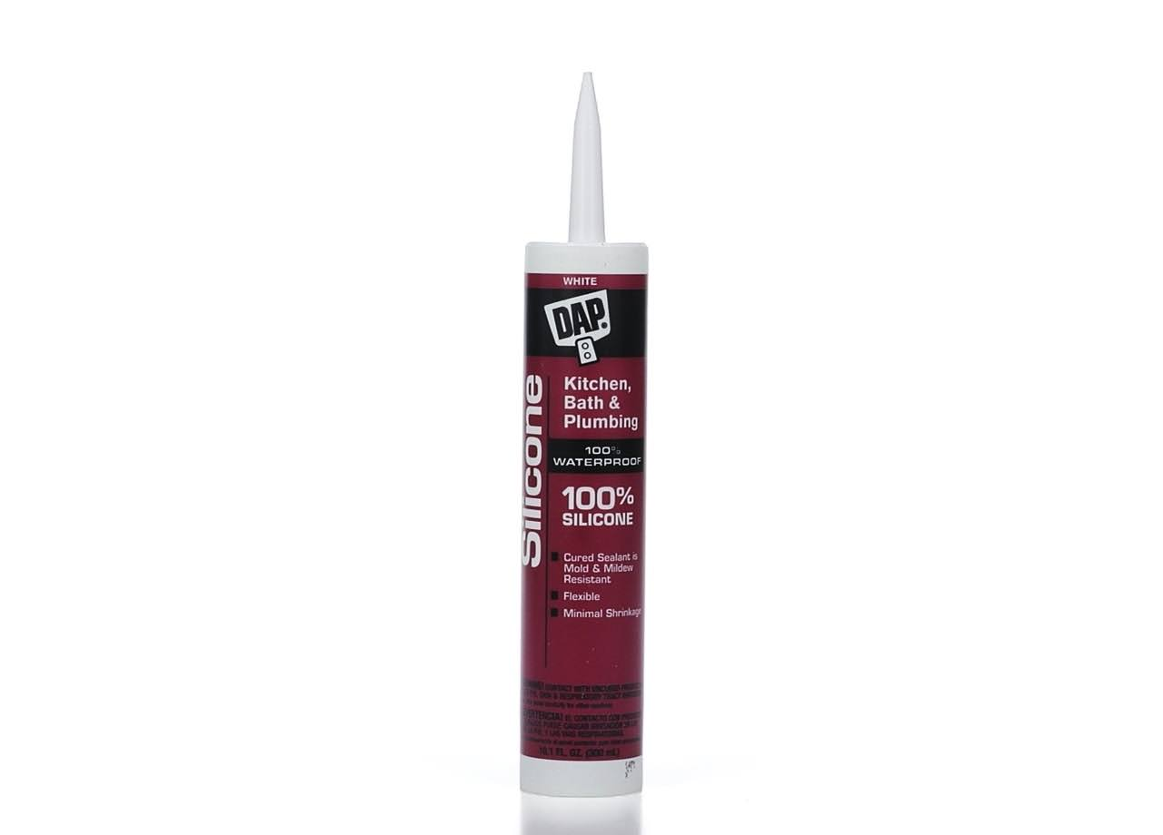 Dap Kitchen and Bath Silicone Sealant - White, 10.1oz
