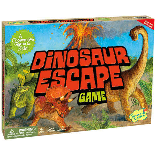 Peaceable Kingdom Cooperative Board Game - Dinosaur Escape