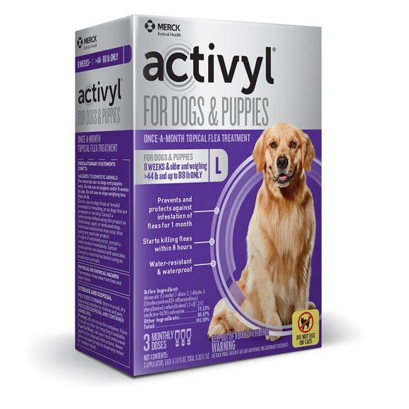 Activyl for Dogs & Puppies Once-A-Month Flea Treatment - 3 Month Dosages