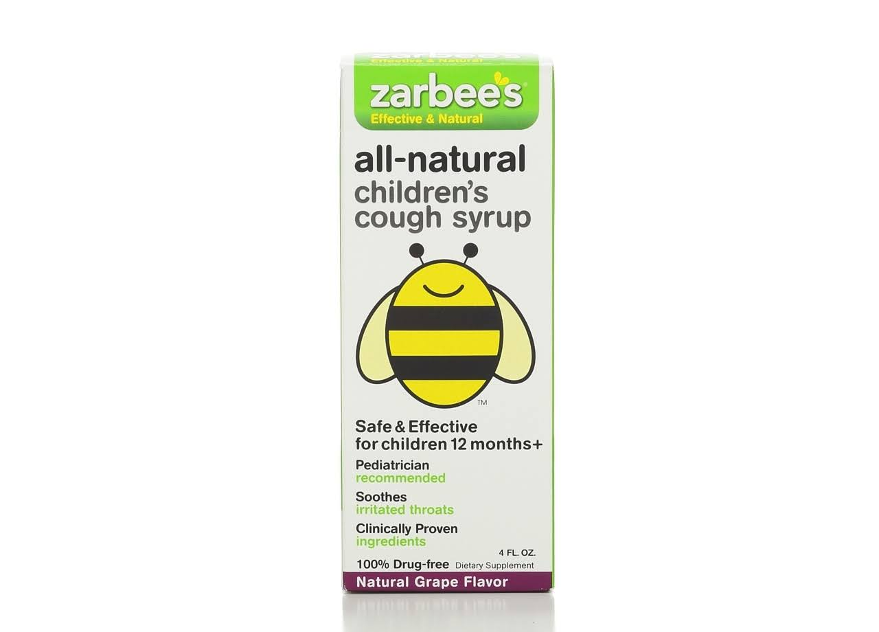 Zarbee's Naturals Children's Cough Syrup - Grape, 4oz