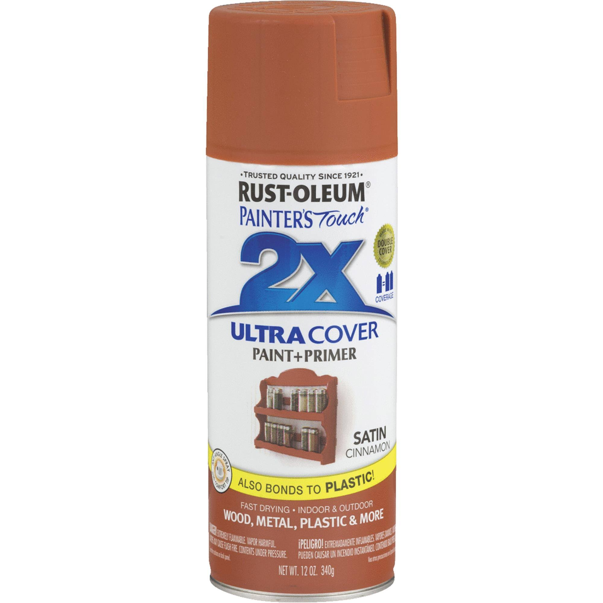 Rust Oleum Painter's Touch Multi Purpose Spray Paint - 12oz, Satin Cinnamon