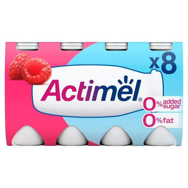 Actimel 0% Fat No Added Sugar Raspberry