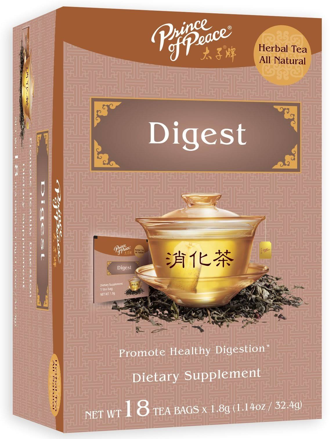 Prince of Peace Digest Herbal Tea - 18pk