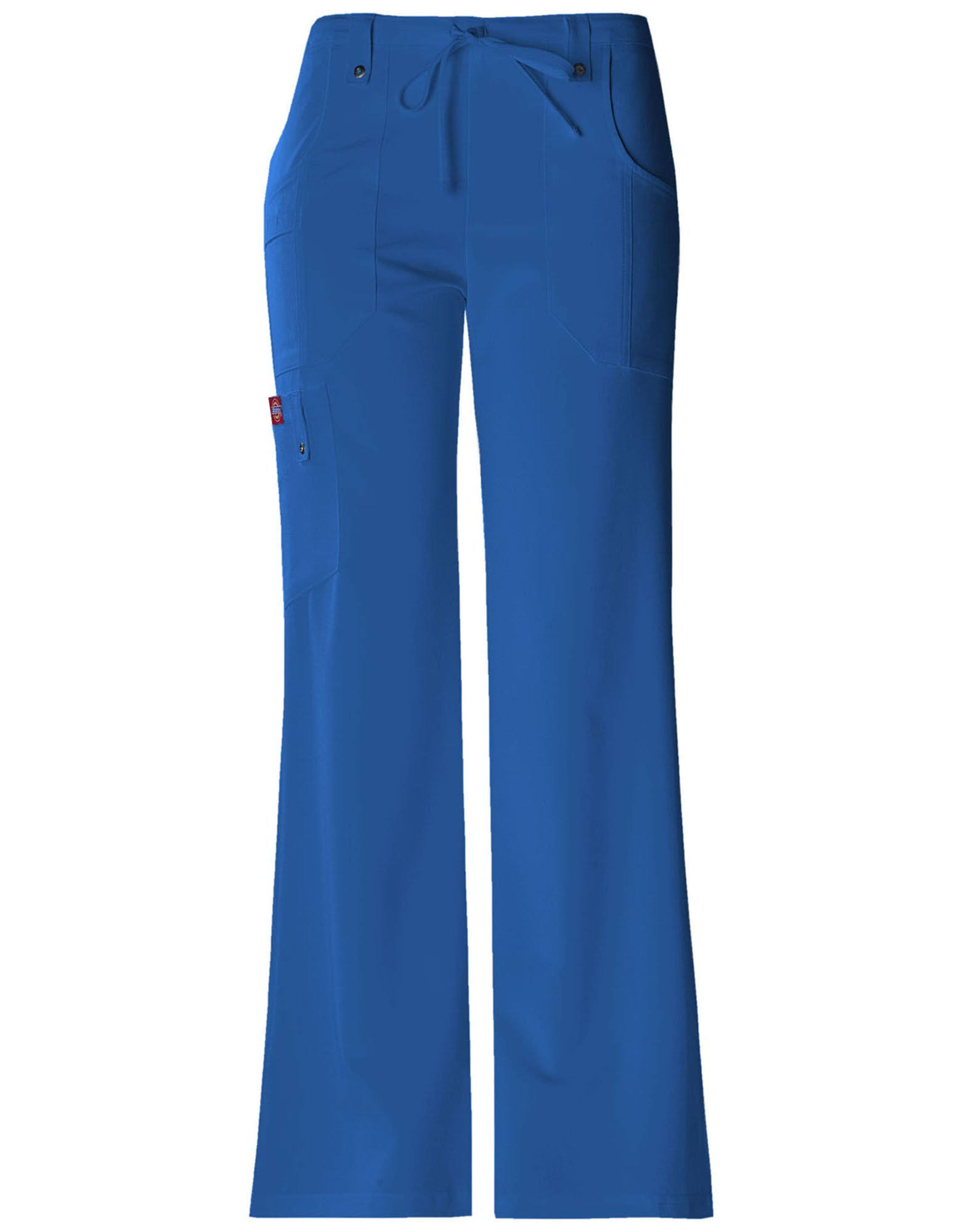 Dickies Xtreme Stretch Women's Drawstring Flare Leg Scrub Pants - Medium, Royal Blue