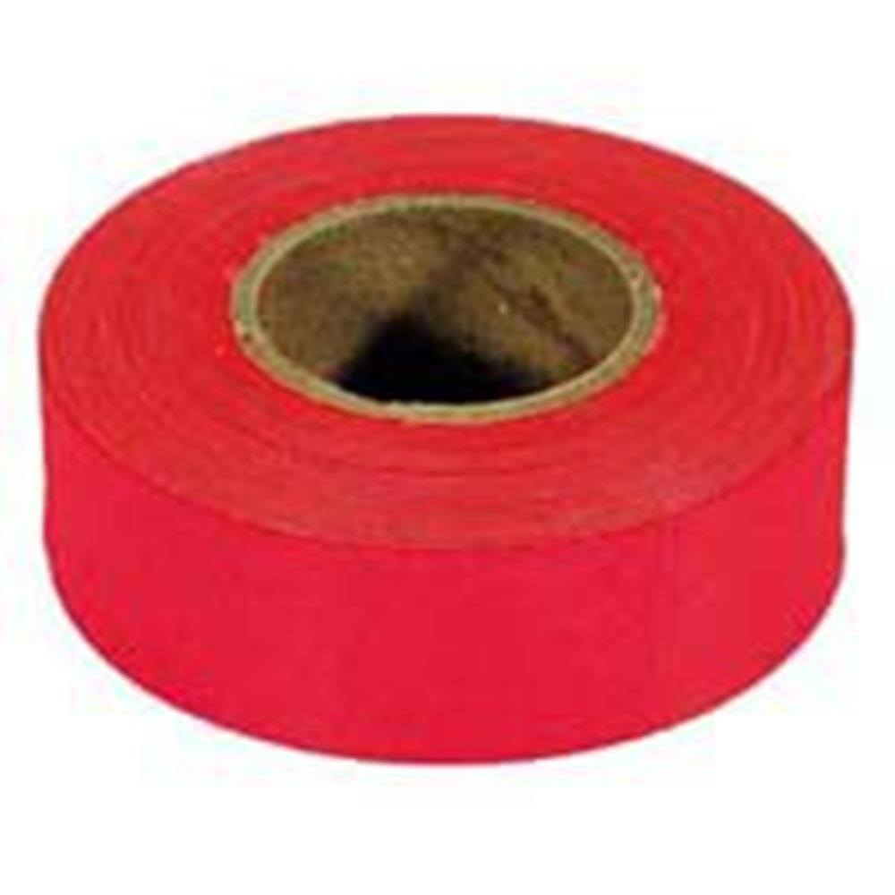 Irwin Industrial Fluorescent Flagging Tape Tape - 150', Glo Red