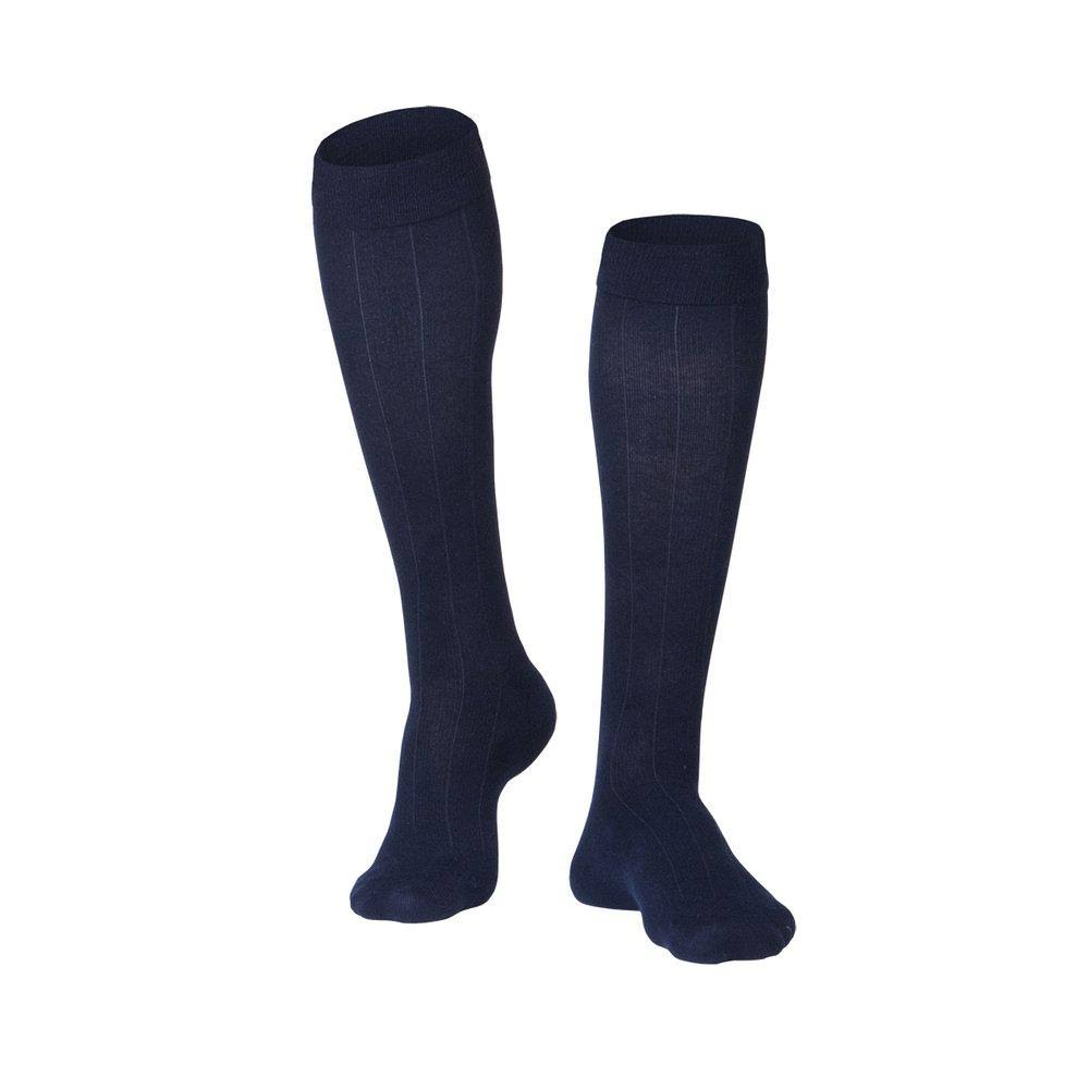 Touch Men's Compression Socks - Knee High, Navy, 15-20mmhg, Large