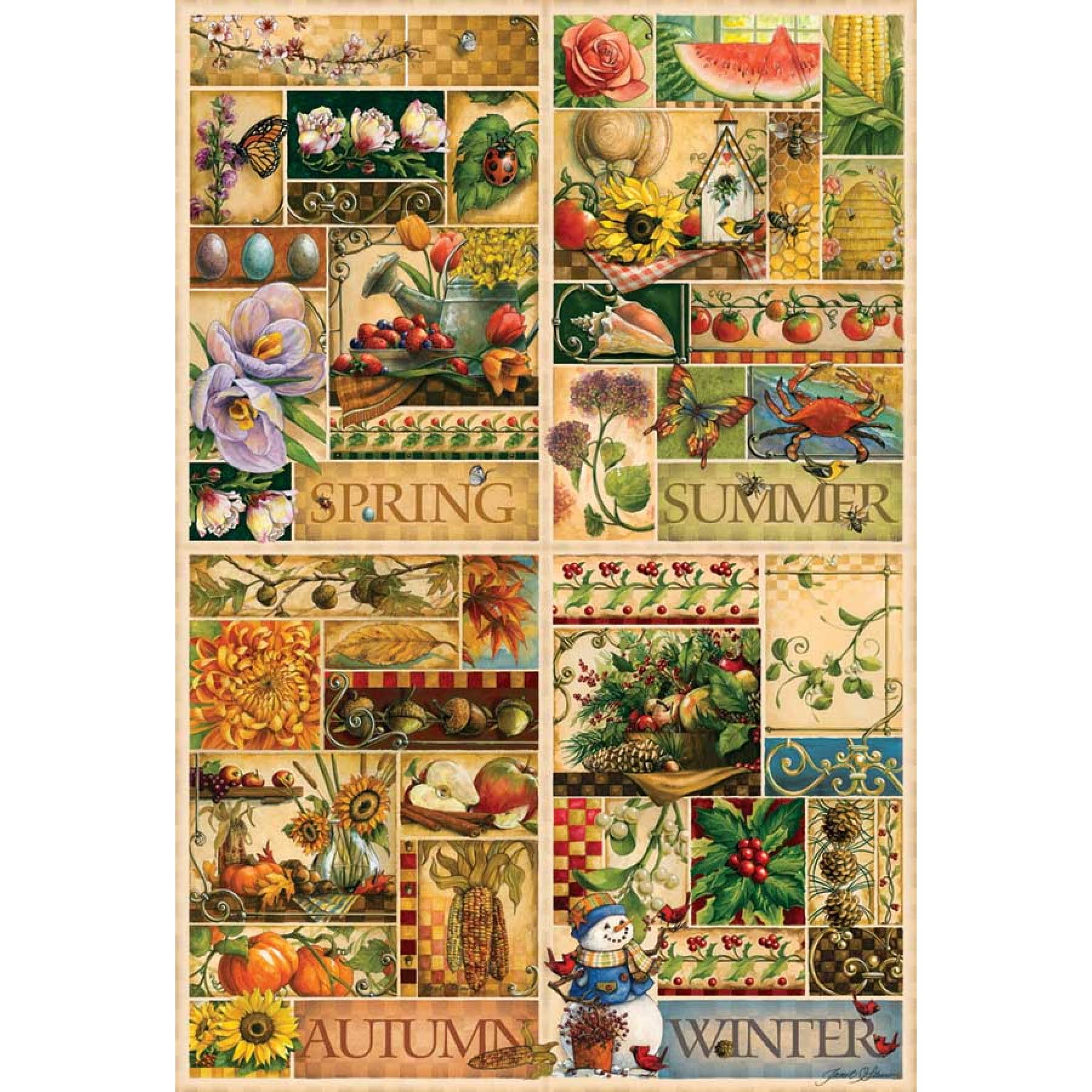 Cobble Hill The Four Seasons Jigsaw Puzzle