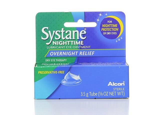 Alcon Systane Sterile Nighttime Lubricant Eye Ointment - Overnight Relief, 1/8oz