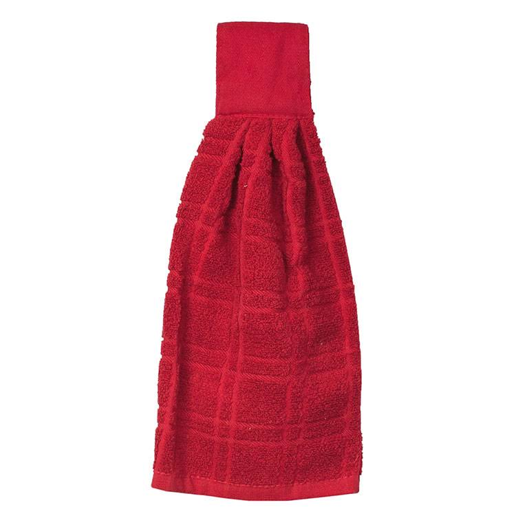 Ritz Kitchen Wears Solid Kitchen Hanging Tie - Paprika Red