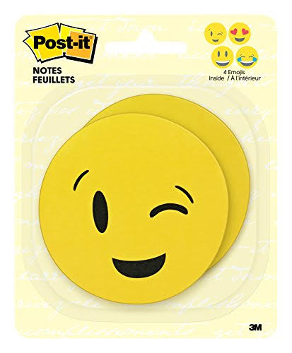 "Post-it Super Sticky Notes - Emoji Shape, 50 Sheets, 3""x3"""