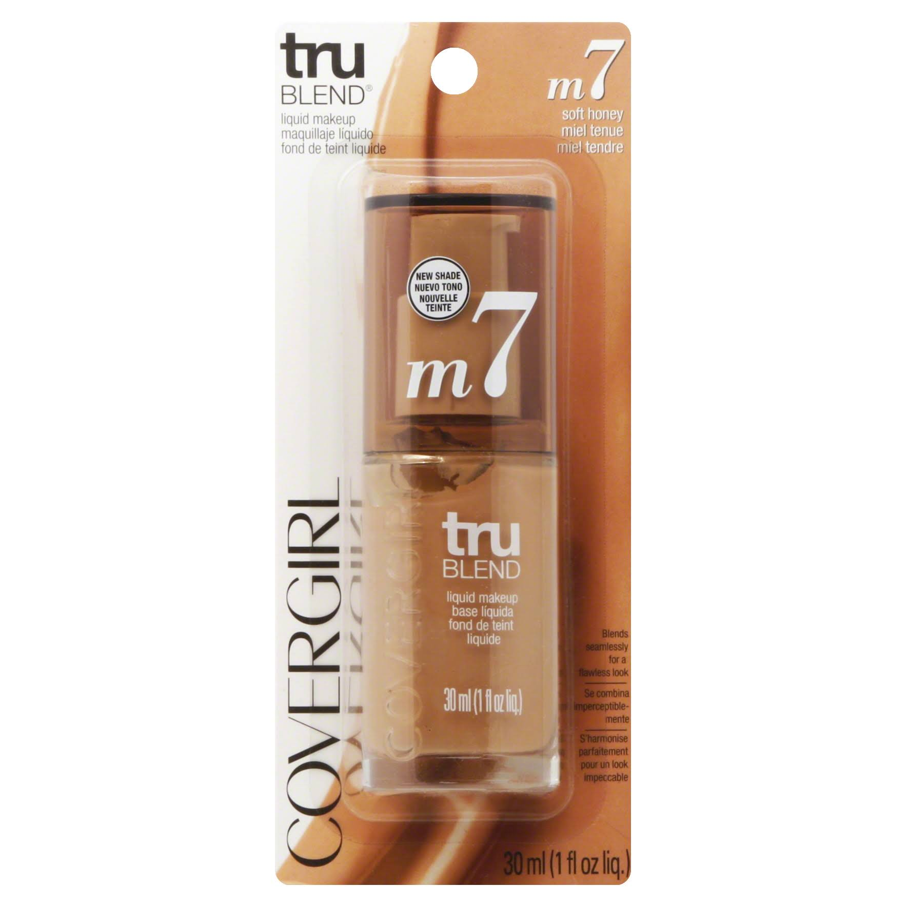 Covergirl Trublend Liquid Makeup - M7 Soft Honey, 1oz