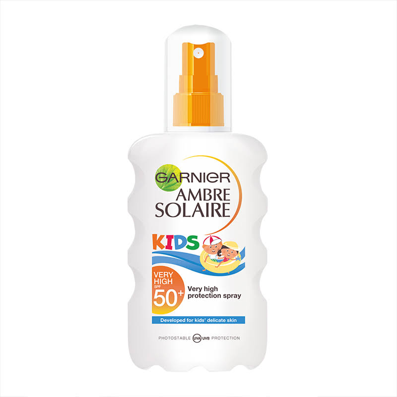 Ambre Solaire Kids Water Resistant Sun Cream Spray - SPF 50, 200ml