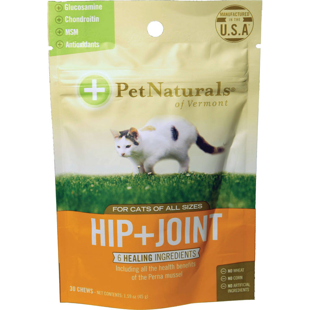 Pet Naturals of VT Hip + Joint Supplements for Cats - 30 Chews