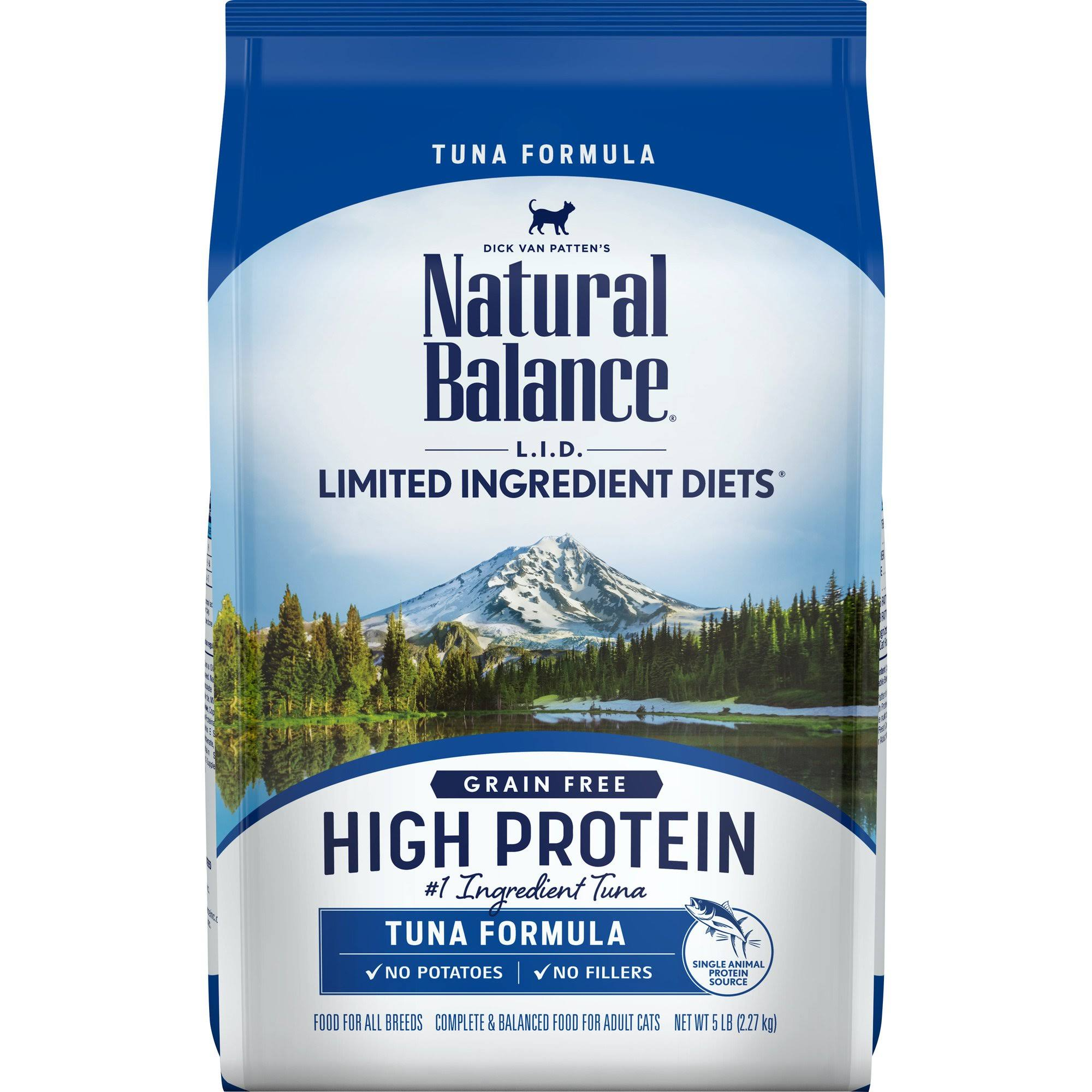 Natural Balance L.I.D. Limited Ingredient Diets High Protein Tuna Formula Dry Cat Food 5 lbs