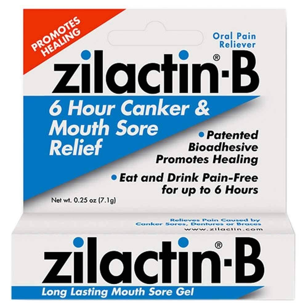 Zilactin-B Long Lasting Mouth Sore Gel - 0.25oz