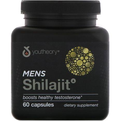 Youtheory Men's Shilajit Testosterone Booster Supplement - 60 Capsules