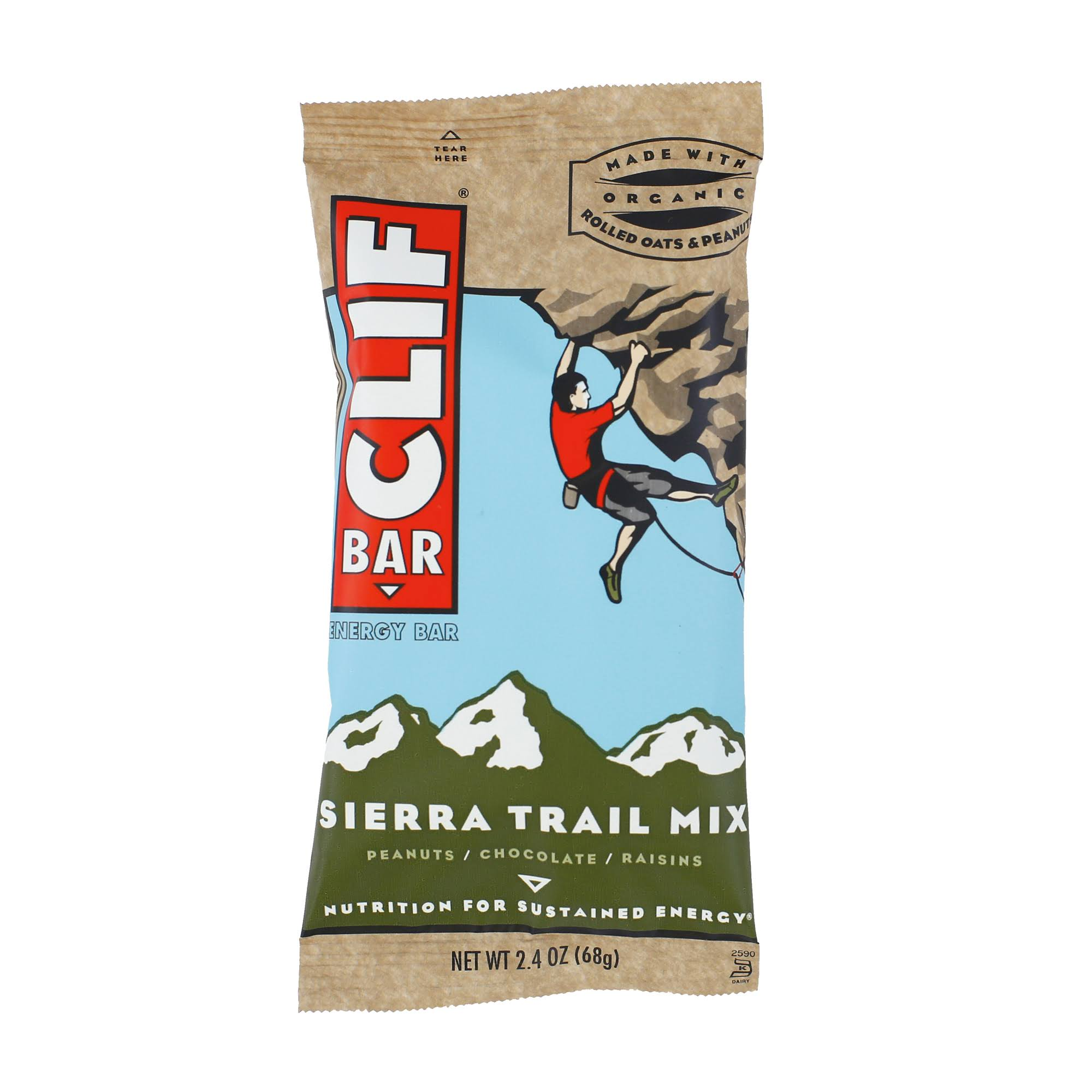 Clif Bar Energy Bar Sierra Trail Mix - Peanuts, Chocolate, Raisins