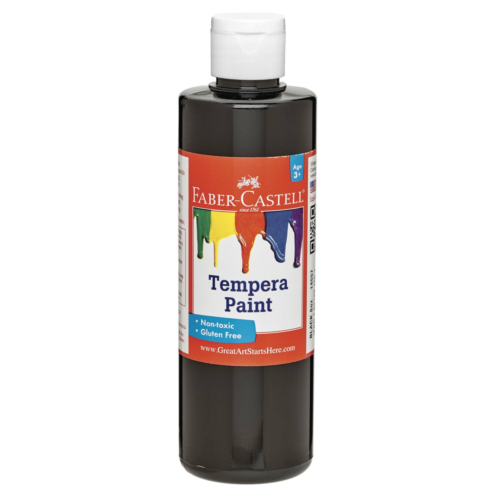 Faber-Castell Black Tempera Paint 8 oz