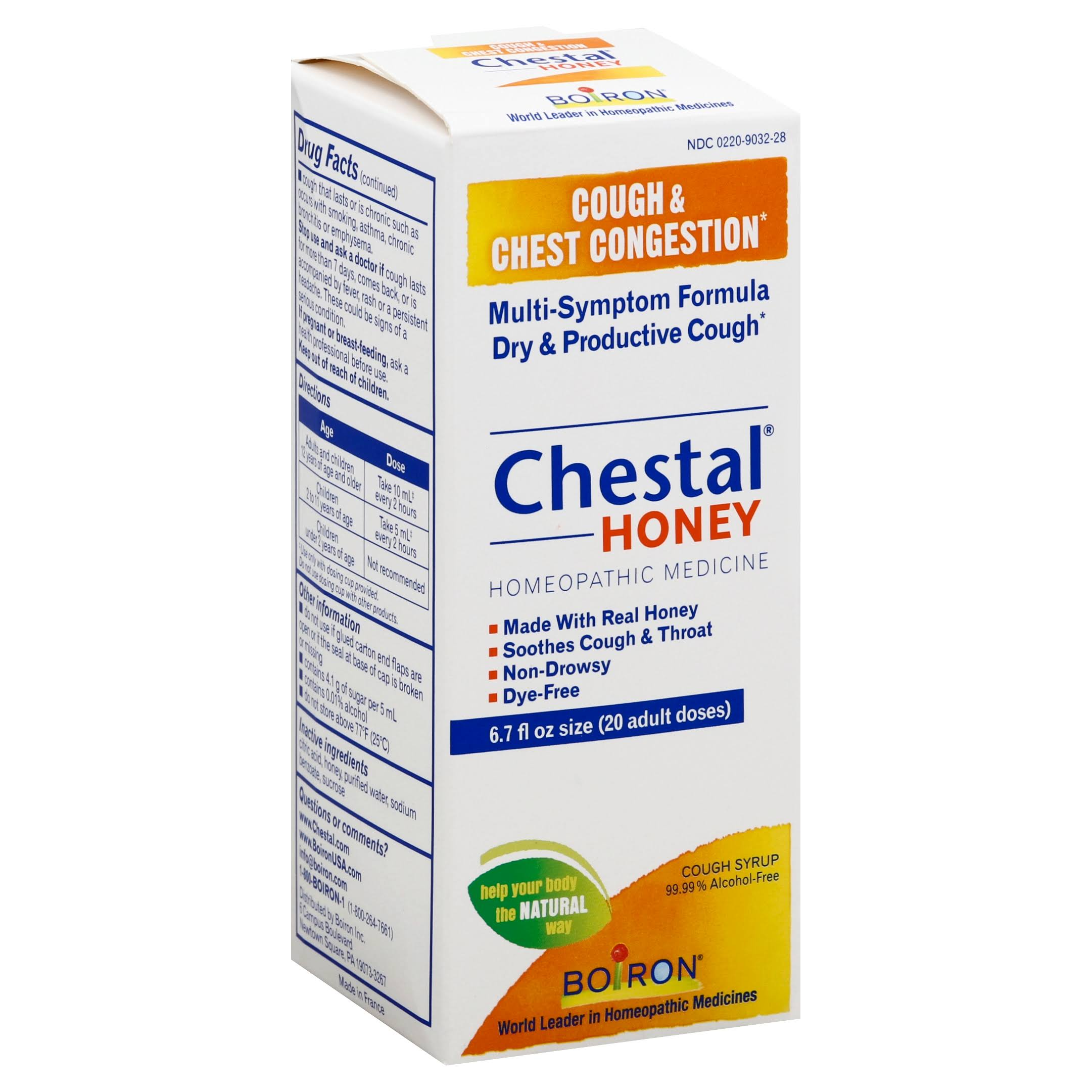 Boiron Chestal Honey Homeopathic Medicine Cough Syrup - 6.7oz