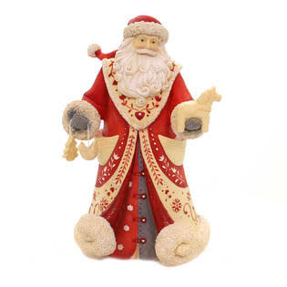 Enesco H8 Heart of Christmas God Jul Santa Figurine - 8.7""