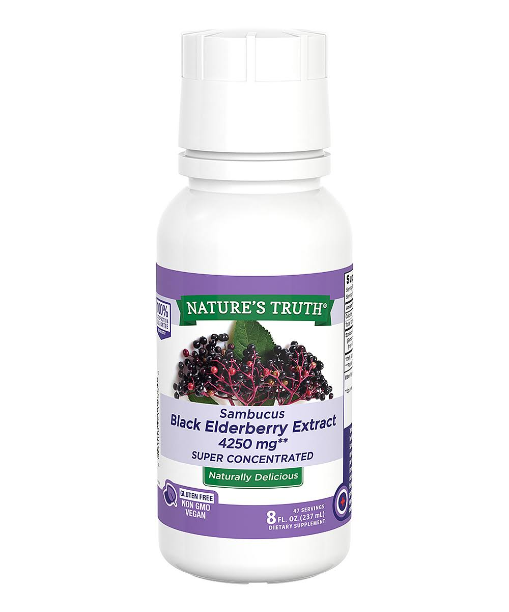 Natures Truth Sambucus Black Elder Berry Extract, 4250 mg, Super Concentrated - 8 fl oz