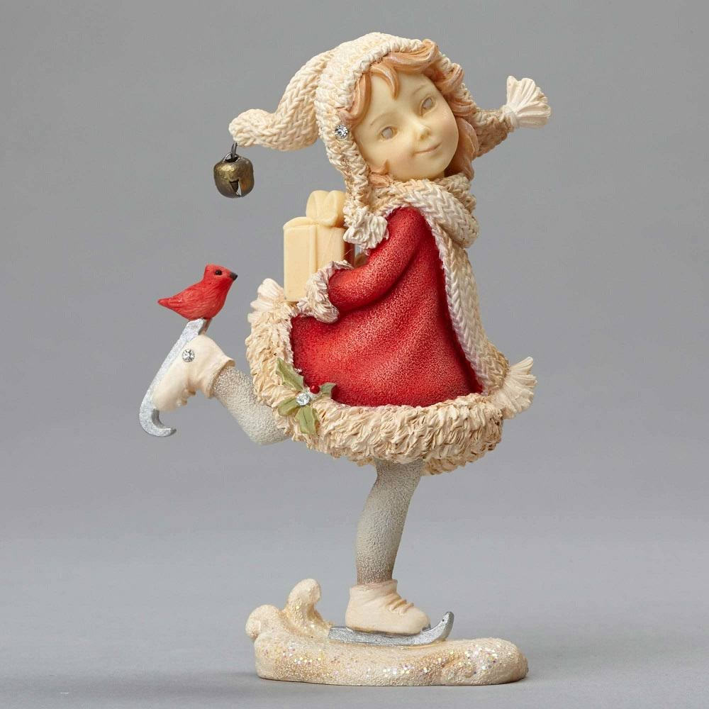 Enesco Heart of Christmas Holiday Elf Girl on Skates Figurine
