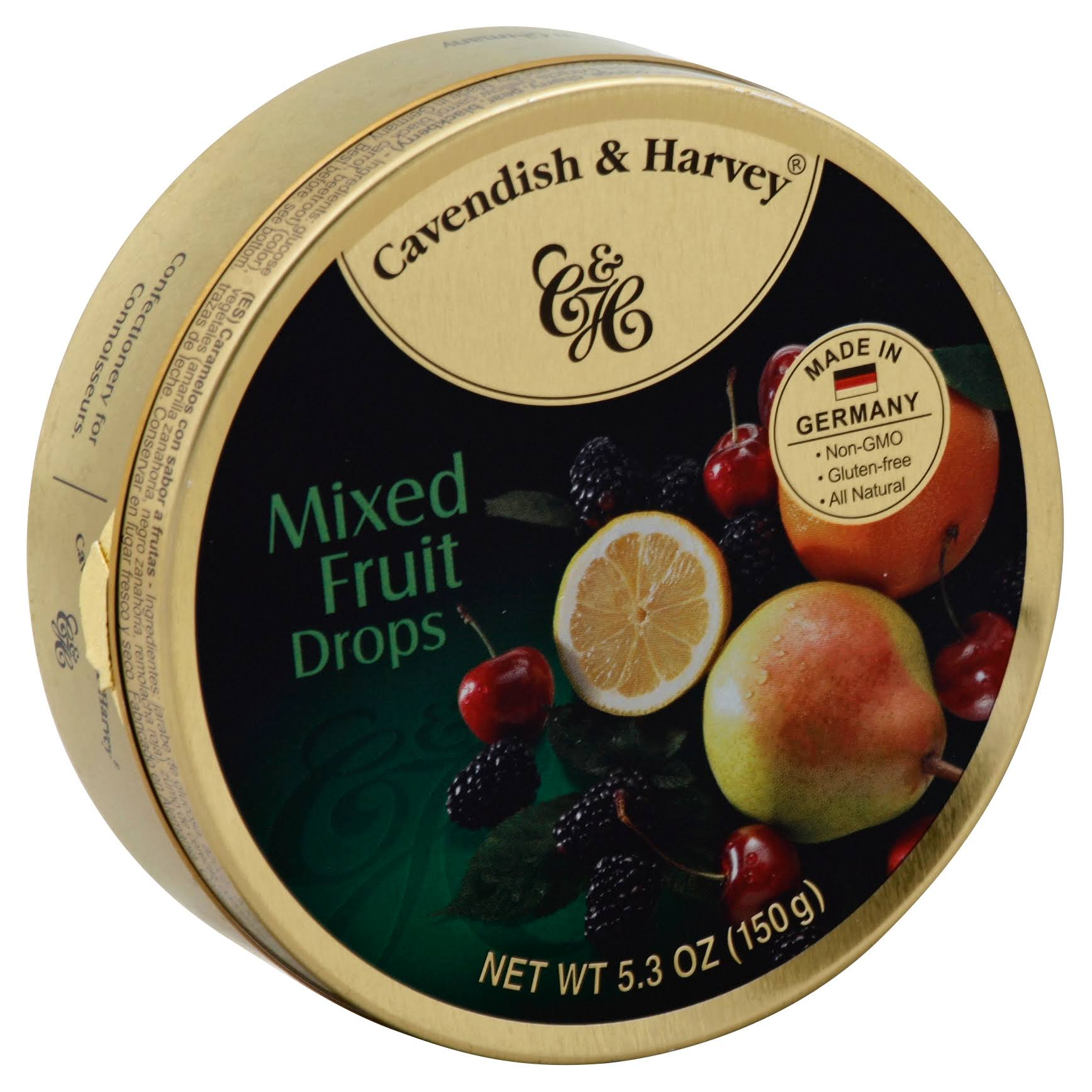 Cavendish and Harvey Hard Candy - Mixed Fruit Drops, 5.3oz