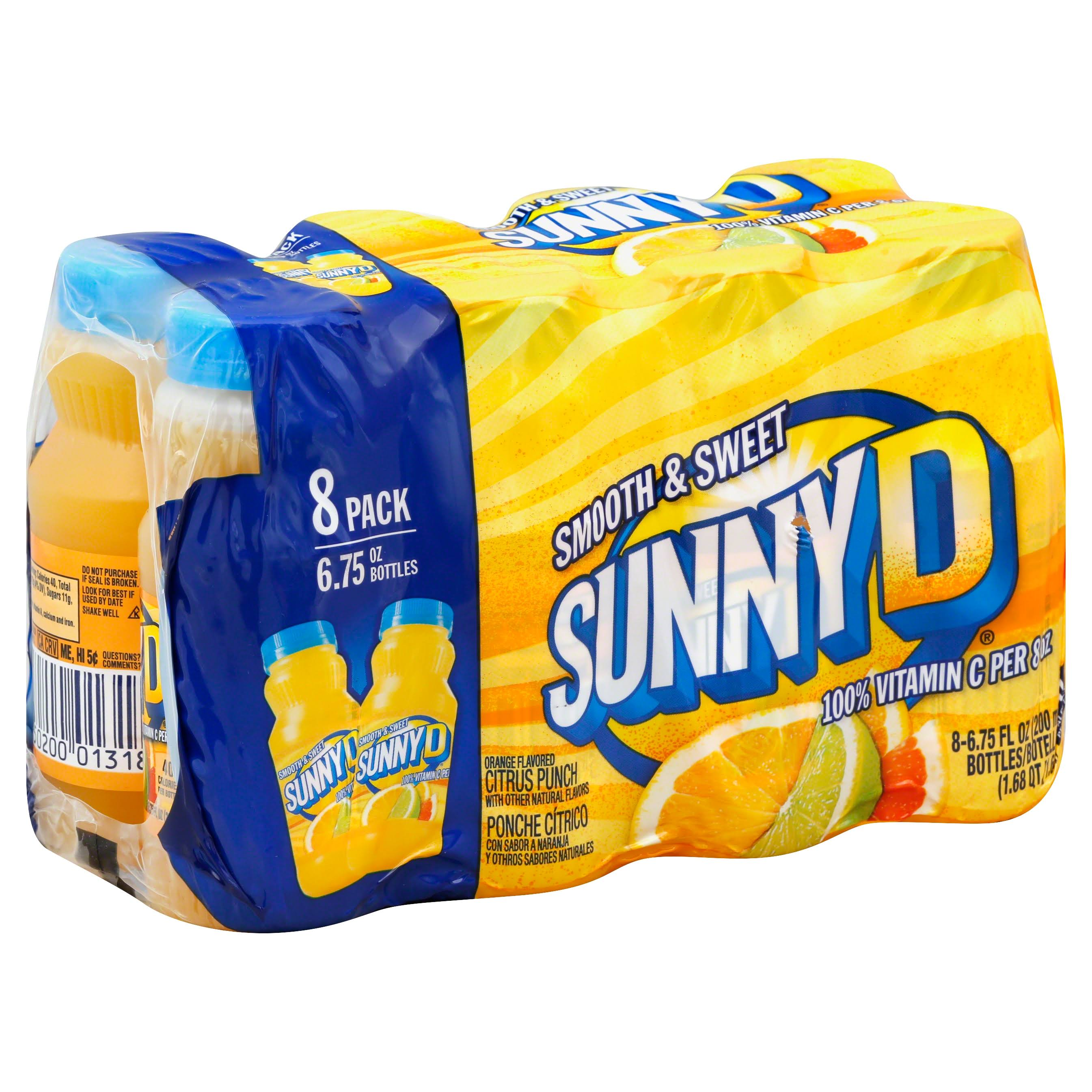 Sunnyd Smooth Citrus Punch - Orange, 6.75oz, 8ct