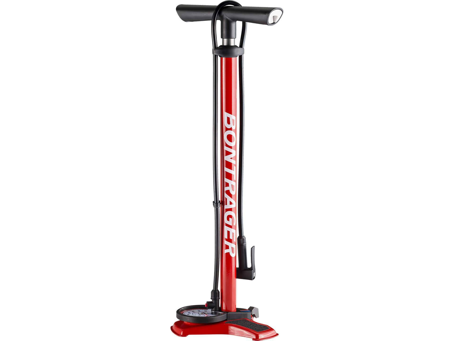 Bontrager Dual Charger Floor Pump - Red - 552590