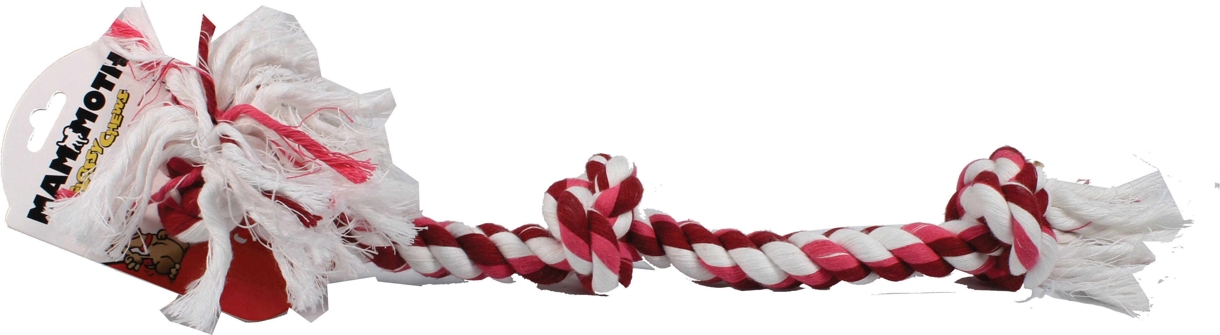 Flossy Chews Cottonblend Color 3-Knot Rope Tug - Large
