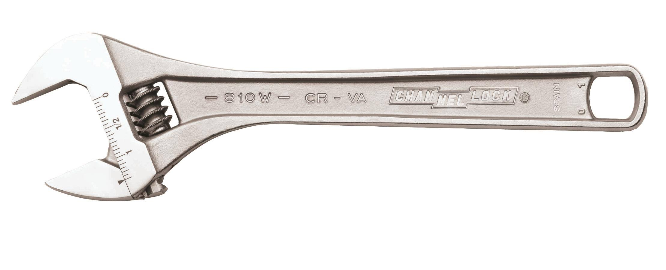 Channellock Adjustable Wrench - Chrome