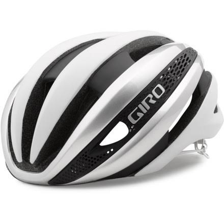 Giro Synthe Cycling Helmet - Matte White and Silver, Small