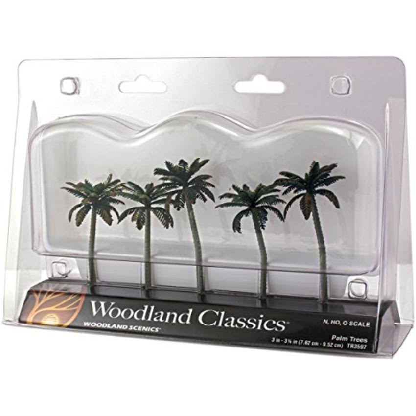 "Woodland Scenics Small Palm Trees - 3"", 5pk"