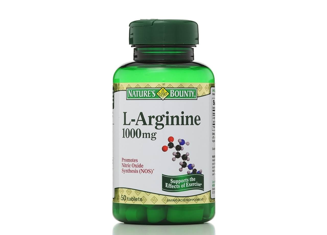 Nature's Bounty L-Arginine - 1000mg, 50 Tablets