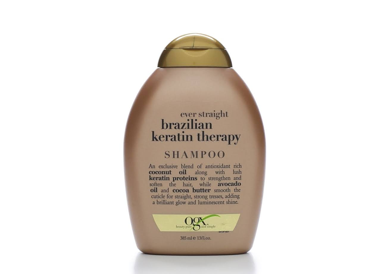 OGX Ever Straight Brazilian Keratin Therapy Shampoo - 13oz