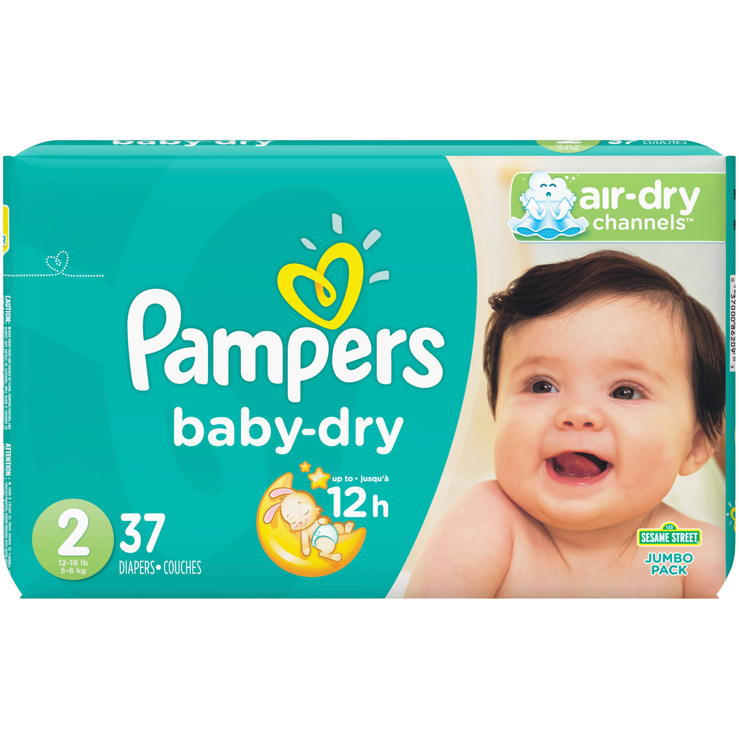 Pampers Baby Dry Diapers - Size 2, 37ct