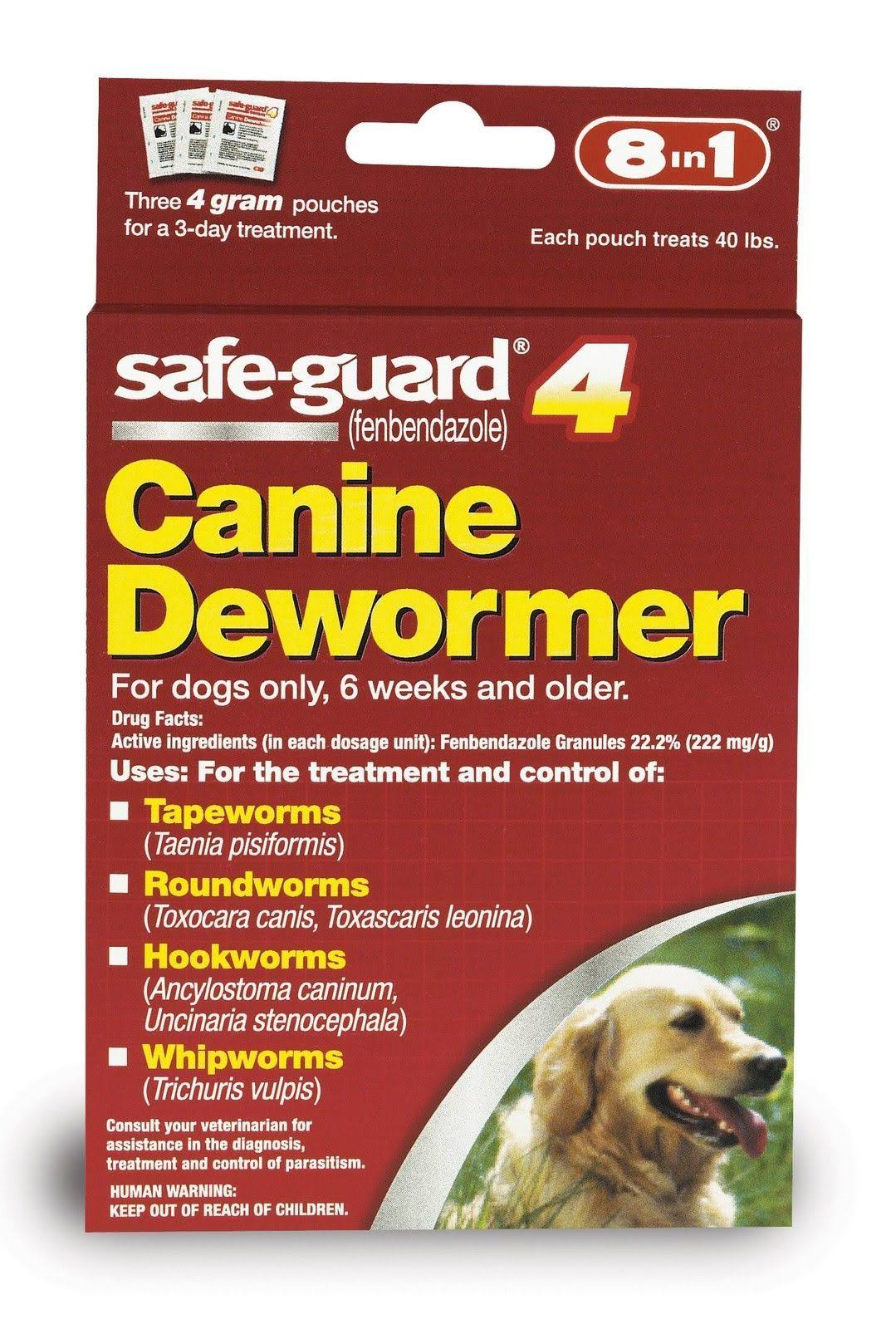 Aquaculture Safe-Guard 4 Canine Dewormer, 4G, 3-Pack