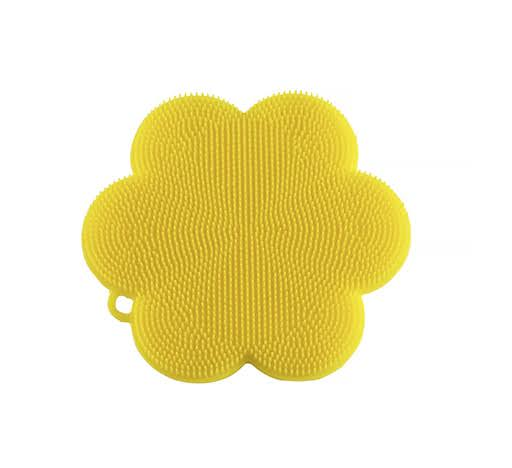 Kuhn Rikon Stay Clean Flower Silicone Scrubber, Yellow